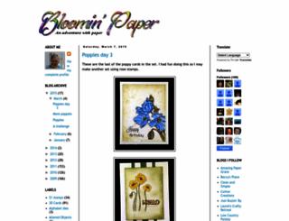 bloominpaper.blogspot.com screenshot