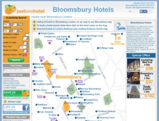bloomsburyhotels.com screenshot
