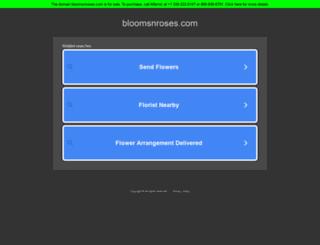 bloomsnroses.com screenshot