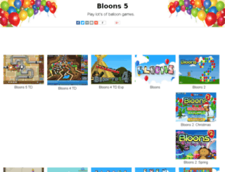 bloons5.net screenshot