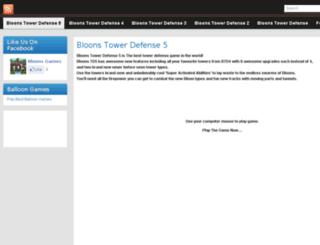 bloons5.org screenshot