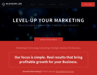 blossomlab.com screenshot