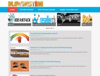 blowhosting.com screenshot