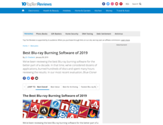 blu-ray-burning-software-review.toptenreviews.com screenshot