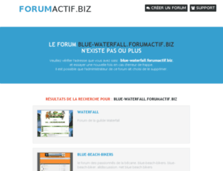 blue-waterfall.forumactif.biz screenshot