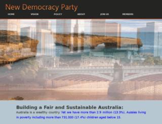 blue.newdemocracyparty.org.au screenshot