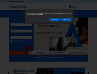 bluearrow.co.uk screenshot
