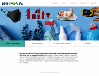 bluecanvasbd.com screenshot