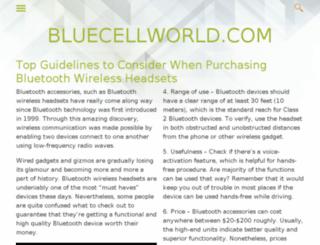 bluecellworld.com screenshot