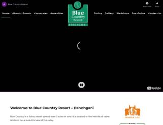 bluecountryresort.com screenshot