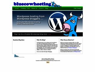 bluecowhosting.com screenshot