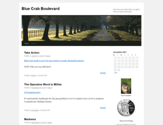 bluecrabboulevard.com screenshot