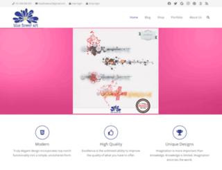 blueflowerart.com screenshot