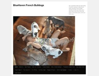 bluefrenchbulldogscentral.com screenshot