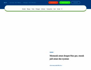 bluegaz.co.id screenshot