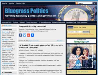 bluegrasspolitics.bloginky.com screenshot