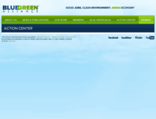 bluegreenalliance.ngpvanhost.com screenshot