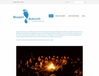 bluegumbushcraft.com.au screenshot