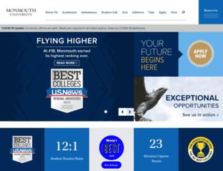 bluehawk.monmouth.edu screenshot