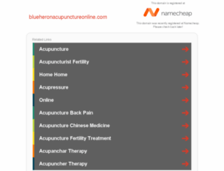 blueheronacupunctureonline.com screenshot