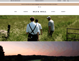 bluehillfarm.com screenshot