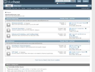 bluehostforum.com screenshot