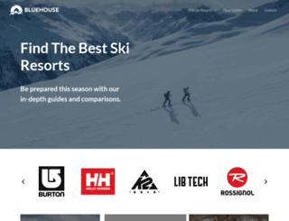 bluehouseskis.com screenshot
