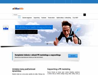blueinfo.sk screenshot