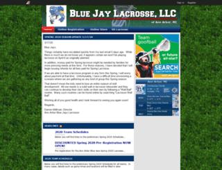 bluejaylacrosse.uslaxteams.com screenshot
