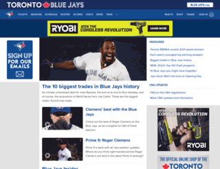 bluejays.mlb.com screenshot