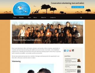 bluelizardadventures.com screenshot