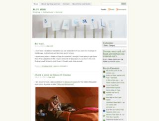 bluemilk.wordpress.com screenshot