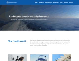 bluenautik.ch screenshot