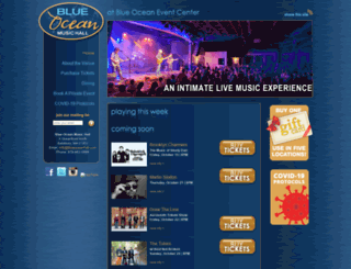 blueoceanhall.com screenshot