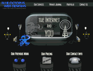 blueoctopuswebdesigns.com screenshot