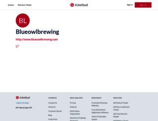 blueowlbrewing.ticketbud.com screenshot