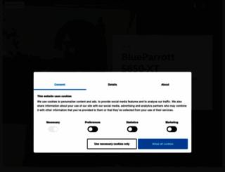 blueparrott.com screenshot