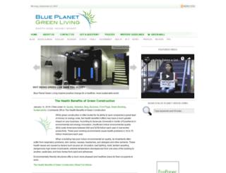 blueplanetgreenliving.com screenshot