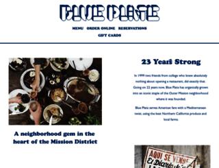 blueplatesf.com screenshot