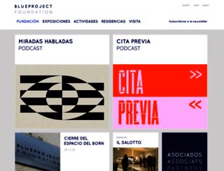 blueprojectfoundation.org screenshot