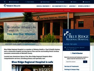 blueridgehospital.org screenshot