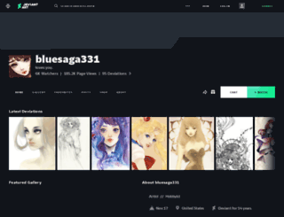 bluesaga331.deviantart.com screenshot