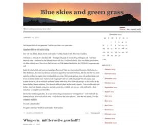 blueskiesandgreengrass.wordpress.com screenshot
