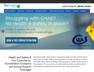 bluesquaresafety.com screenshot