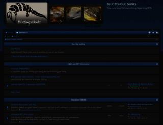 bluetongueskinks.org screenshot