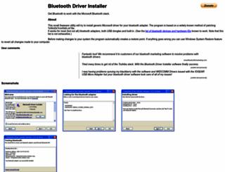 bluetoothinstaller.com screenshot