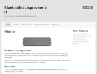 bluetoothlautsprecher.biz screenshot