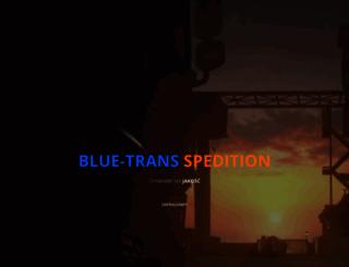 bluetransspedition.eu screenshot