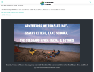 bluewaterskayaking.com screenshot