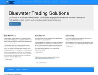 bluewatertradingsolutions.com screenshot